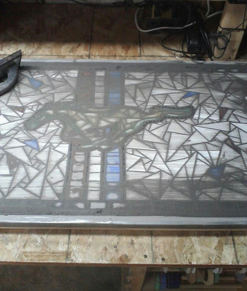 Cars Lincoln Ne: Grouting Mustang Table. TouVelle Stained Glass. Lincoln