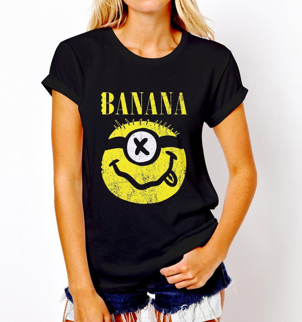 9e6429d508 Minions Despicable Me Parody Nirvana Banana T Shirt Tee Unisex Nirvana, Graphic  Tees, Band