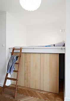 Letto a soppalco con armadio | galéria | Pinterest | Bedrooms ...