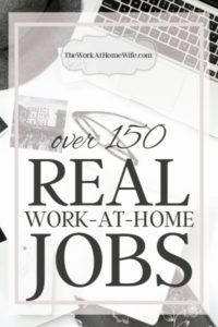 150 Work From Home Jobs - The Big List You Won't W...