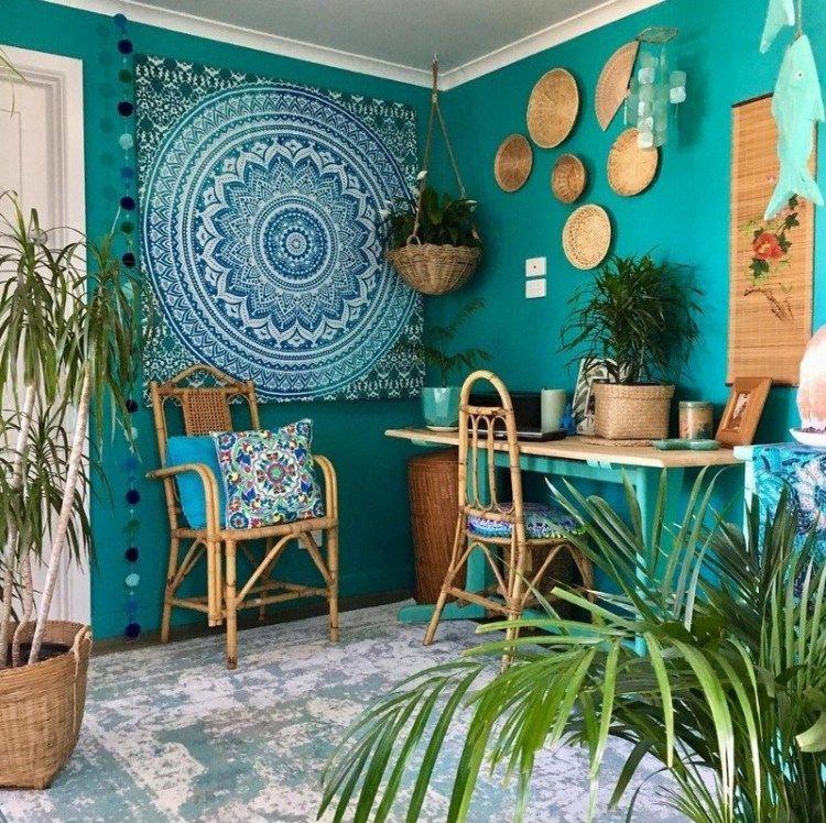 Photo of 9 Beautiful Boho Wall Decor Ideas • One Brick At A Time