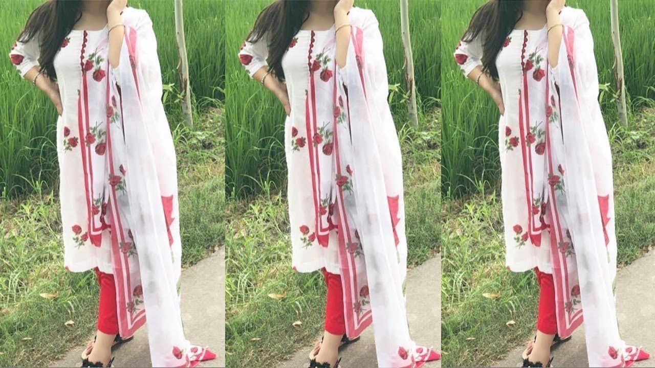 b27034e9a95 Latest White Suit Designs||White Punjabi Suit Collection 2018-2019 ...