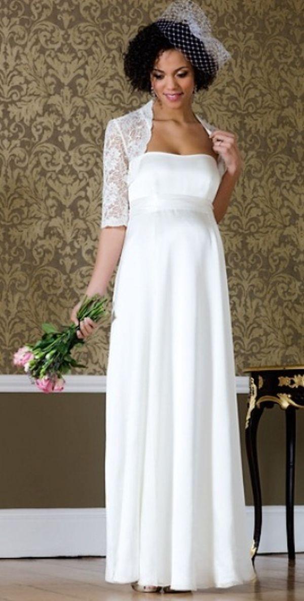 15 Beautiful Maternity Wedding Dress Ideas | My favorite things ...