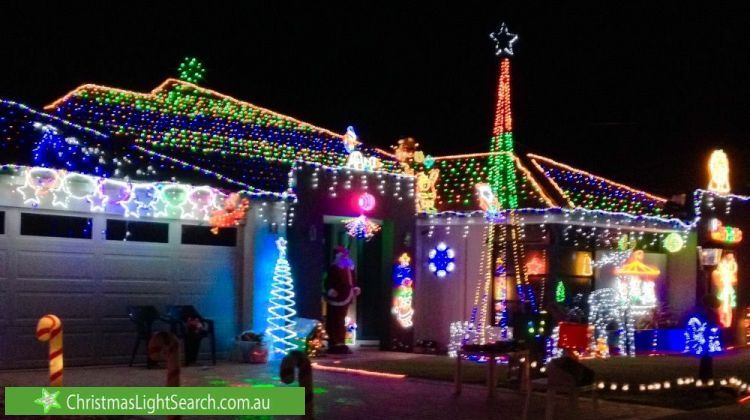 Christmas Lights At 267 Lyon Road Aubin Grove Http Xmaslights Co Aubing Christmas Lights Christmas Light Displays Lights