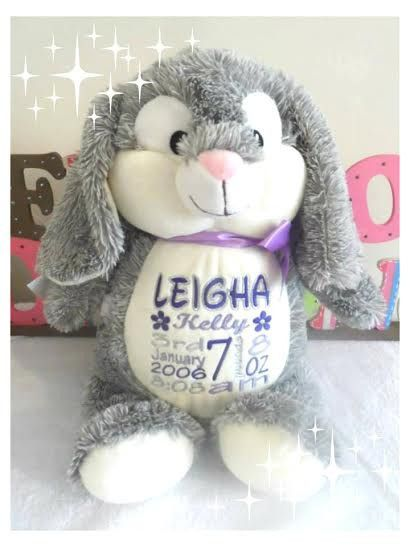 Personalised new baby gifts unique gifts personalised baby personalised new baby gifts unique gifts personalised baby teddy bear gift bunny negle Choice Image