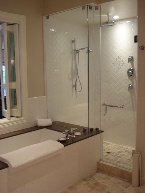 Walk In Shower With Bathtub The Large Walk In Shower With Hand