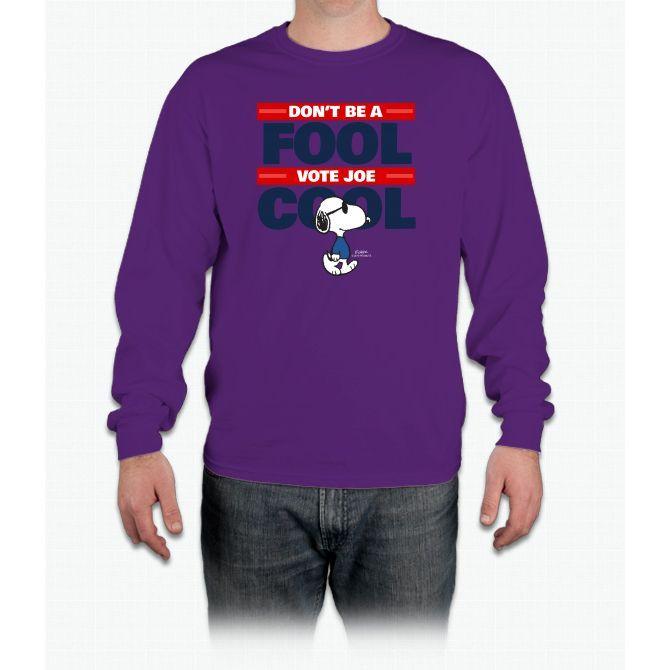 Vote Joe Cool Snoopy Long Sleeve T-Shirt
