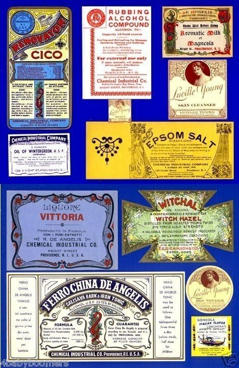 historic medicine labels collection