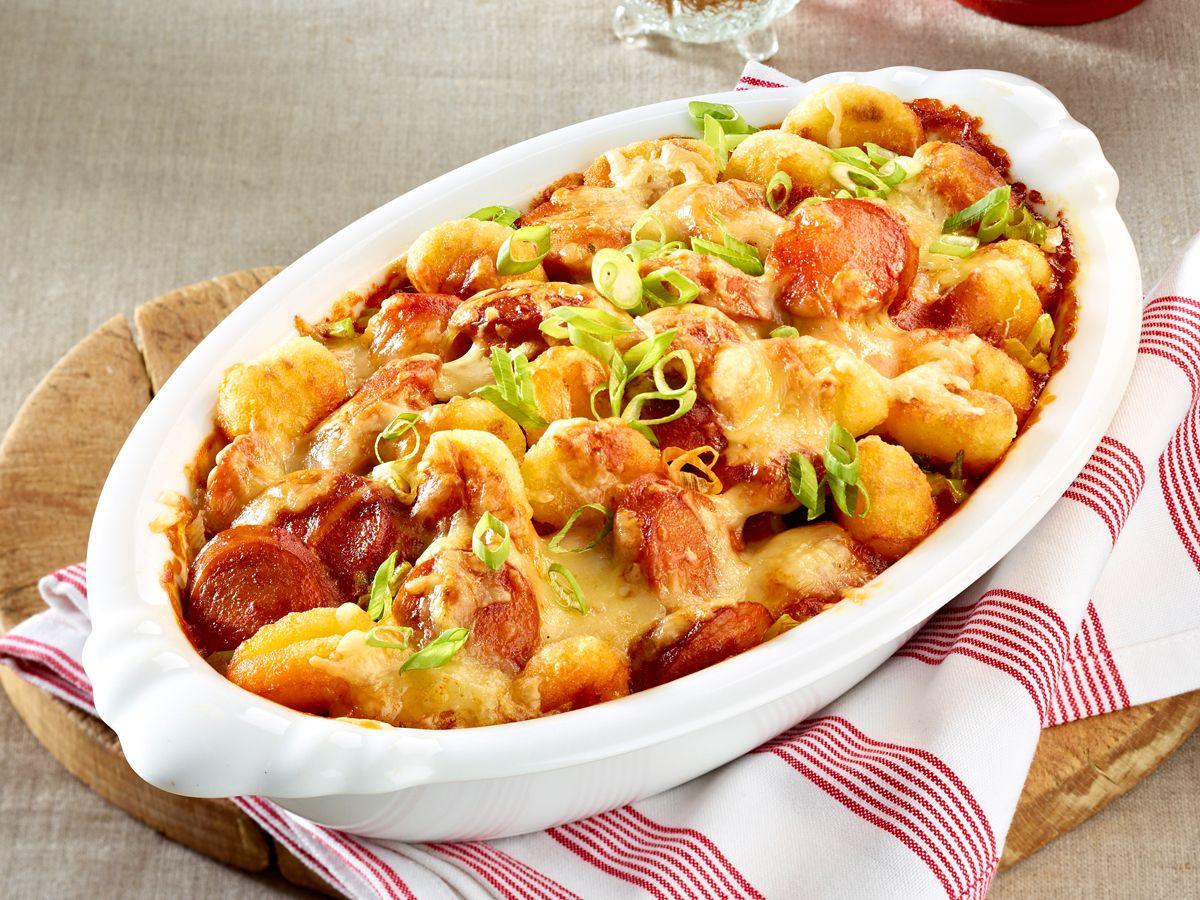 Blitzrezepte - lecker kochen in maximal 30 Minuten - rasanter-currywurst-auflauf  Rezept