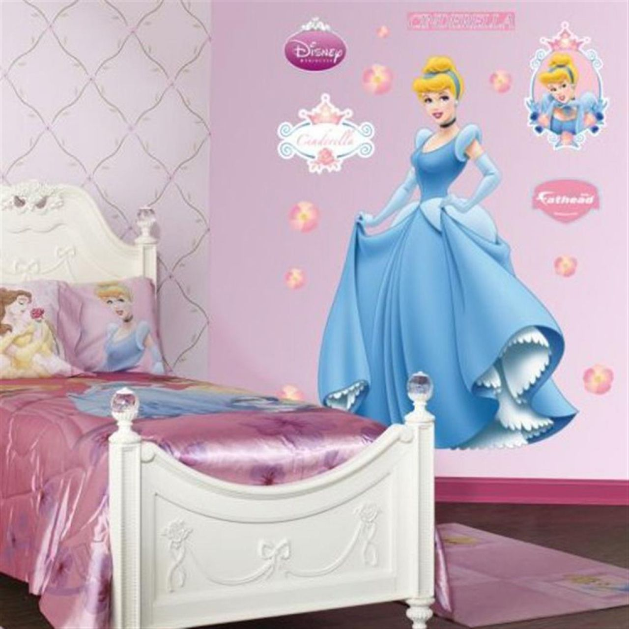 sweet 11 cinderella inspired bedroom designs : fabulous light pink