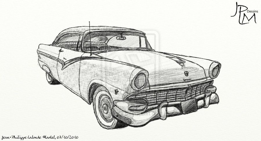 Old Car Draw By Ferrugem Pinterest Cars