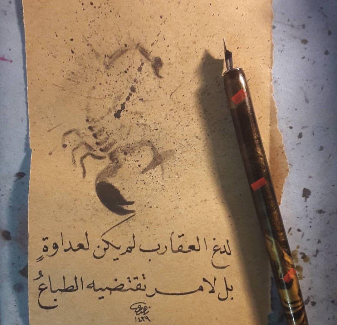 لدغ العقارب لم يكن لعداوه بل لامر تقتضيه الطباع منى الشامسي Islamic Love Quotes Quotes And Notes Text Creations