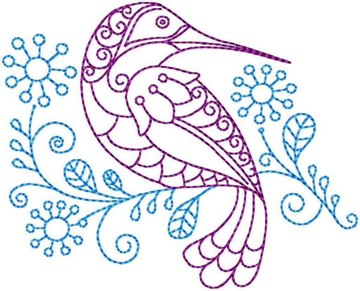 Hummingbird #4 Hand Embroidery Pattern | Craftsy | bordado ...