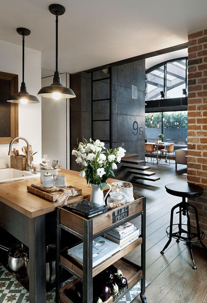 Hip Industrial Style Loft Apartment | Home | Pinterest ...