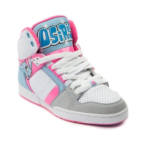 fd248d979ea Shop for Womens Osiris NYC 83 Slim Skate Shoe in White Pink Blue at Journeys  Shoes. Shop today for the hottest brands in mens shoes and womens shoes at  ...