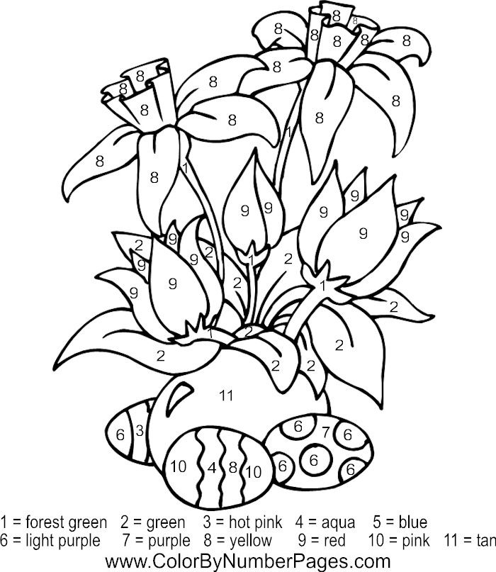 download and print these printable color by number coloring pages for free printable color by