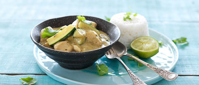 Easy Thai Green Chicken Curry recipe from Food in a Minute