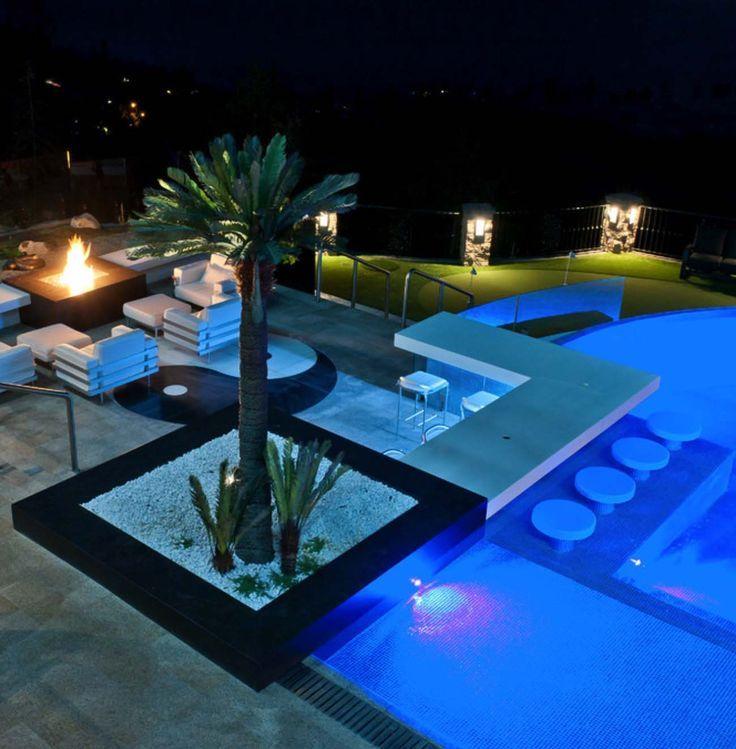 33 mega impressive swim up pool bars built for for Pool design with swim up bar
