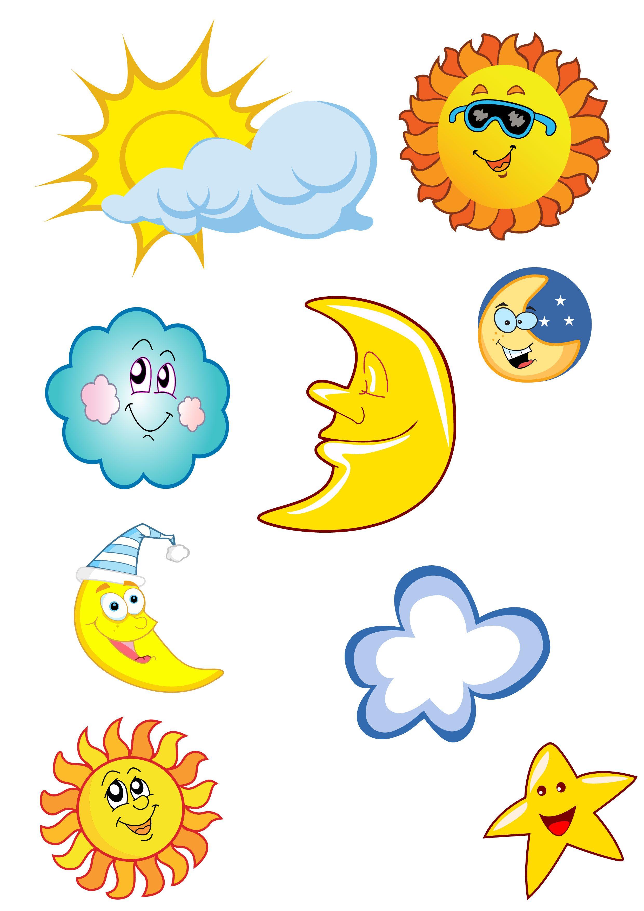 Cartoon Sun Moon Stars