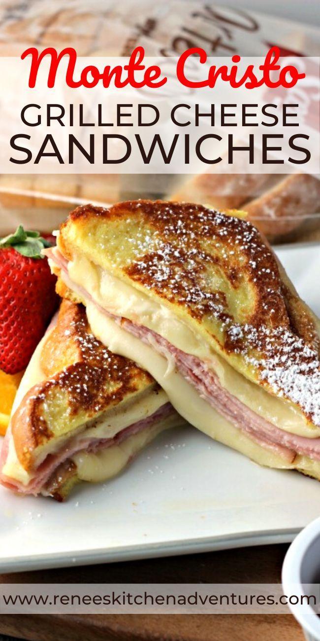 Monte Cristo Grilled Cheese Sandwiches