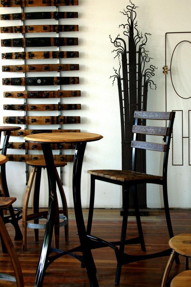 Wine Barrel Creations From Douglas Gisi Amazing Showroom In Touchet Wa