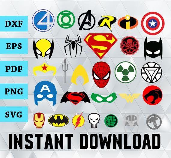 Superhero Svg Superhero Logos Vector Superhero Clipart