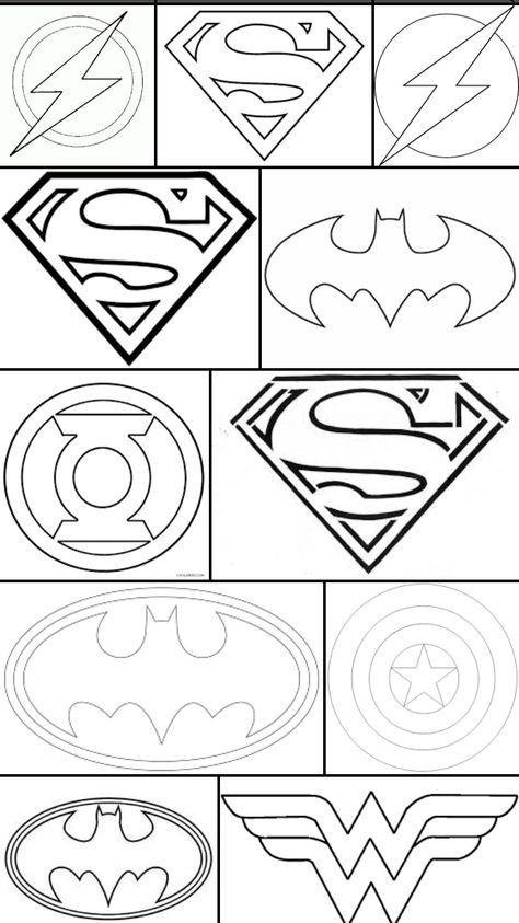 Superhero Logos Crafts Cricut Crafts Coloring Pages