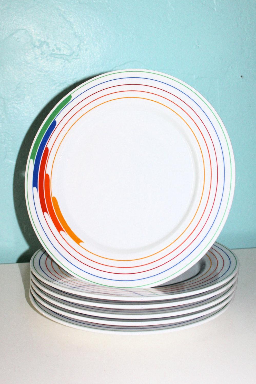 RAD. 80s Retro Fine China Dinnerware Set. $48.50, via Etsy.