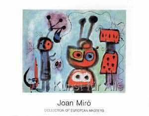Joan Miró - L'oiseau au regard calme les ailes en fl...