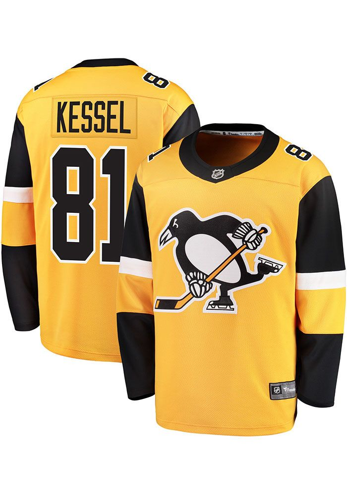 f2a55a381ed Phil Kessel Pittsburgh Penguins Mens Gold Breakaway Alternate Hockey Jersey,  Gold, 100% POLYESTER, Size XL