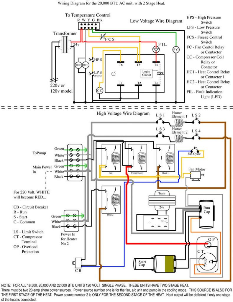 Room Air Conditioner Wiring Diagrams