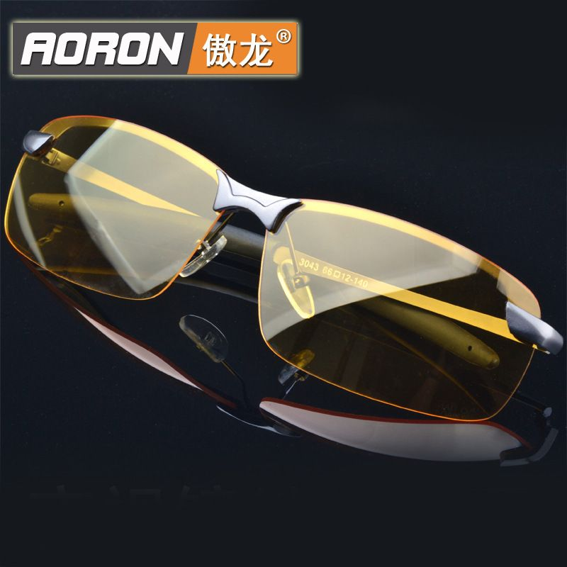 AORON Men/'s Metal Polarized Sunglasses Night Vision Outdoor Driving Glasses Hot