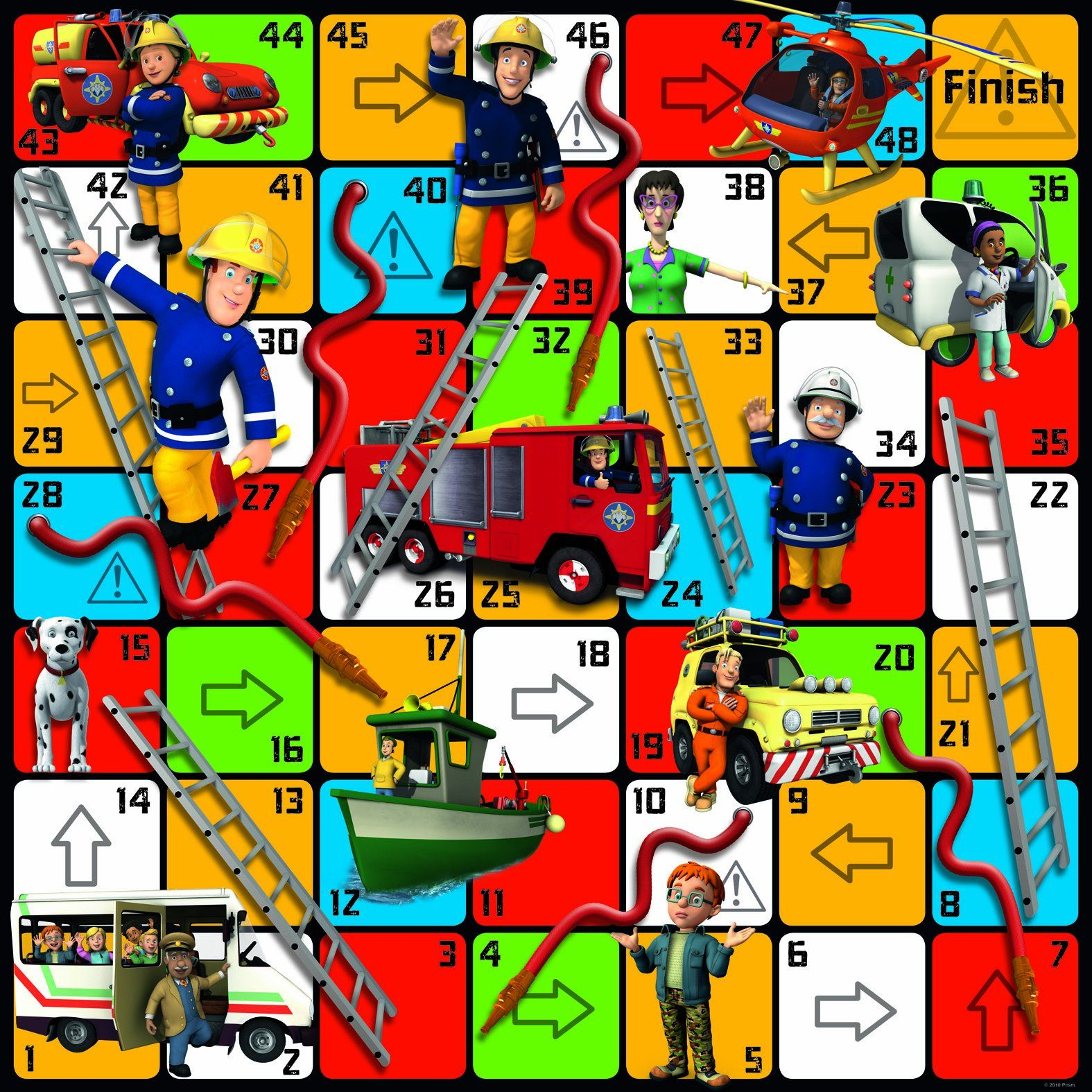 Fireman Sam Giant Hoses And Ladders Game Amazon