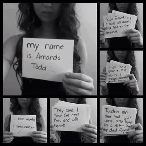 Amanda Todd Death | Amanda Todd teilte ihr Leid mit der YouTube-Community. Wenig später ...