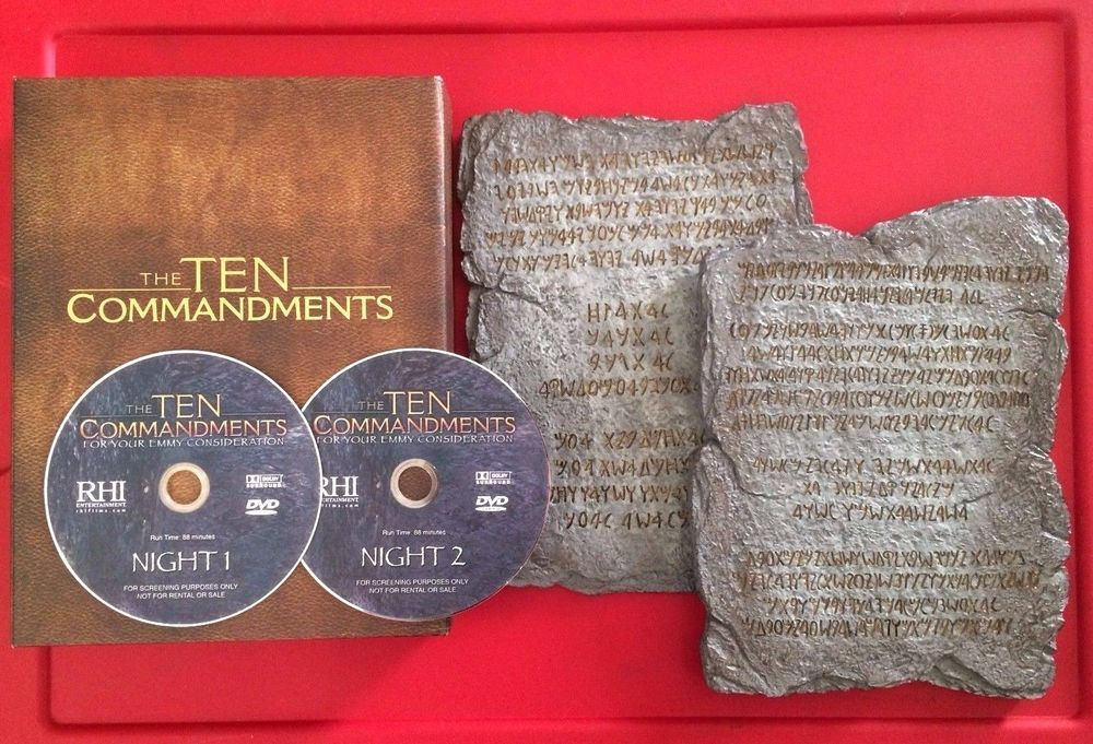 The Ten Commandments 2006 Abc Miniseries Dvd And Stone Tablets