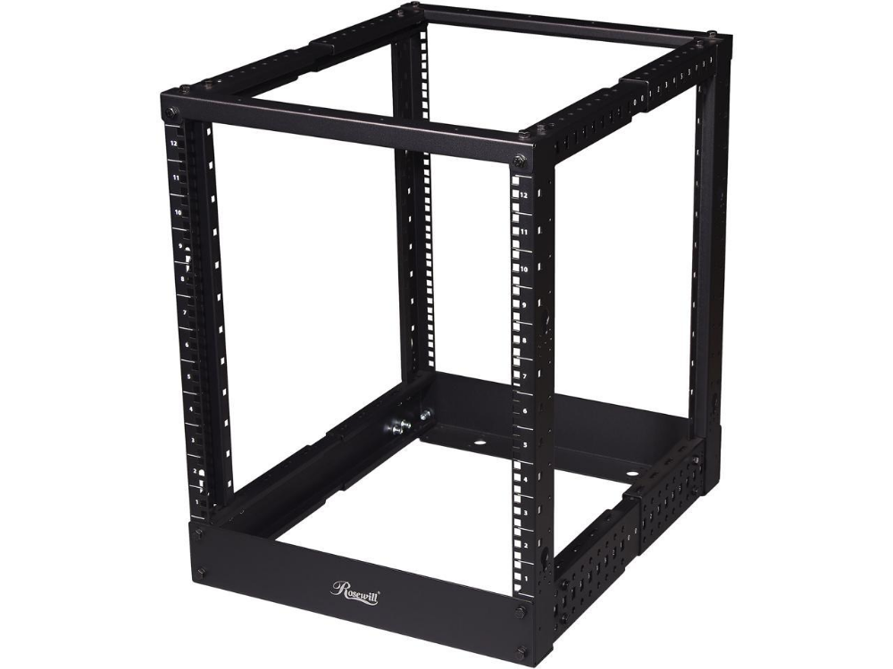 Rosewill 4 Posts Depth Adjustable 22 40 Open Frame Rack 12u Newegg Com Open Frame Wall Mount Rack Frame