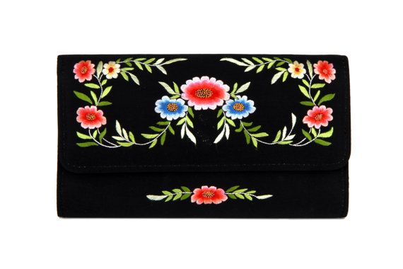 Vintage 70s Hand embroidered 100% Silk Handbag by boboCOLLECTED
