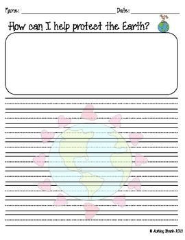 How Can I Help Protect The Earth Writing Prompt Organizer