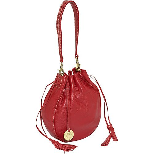 Alla Leather Art Sharlet Bucket Bag - Red