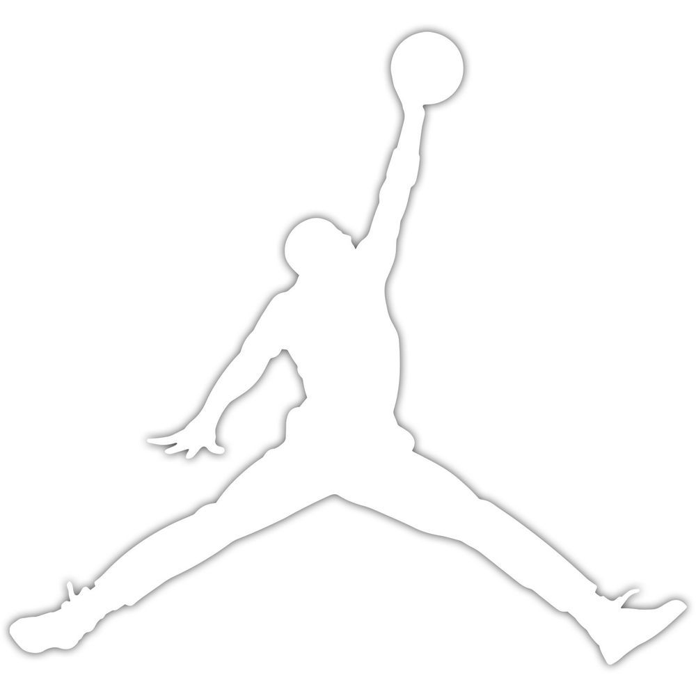2x Air Jordan Jumpman Logo 2 Michael Jordans MJ 23 Vinyl Decal Sticker