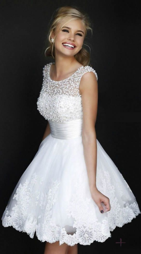 dressestime Short Mini Backless Beaded Evening Prom Homecoming Dresses,beading evening dresses,short party dresses,white prom dresses,mini homecoming dresses,sweet 15/ 16 dresses,cute Cocktail Dresses,Graduation Dresses