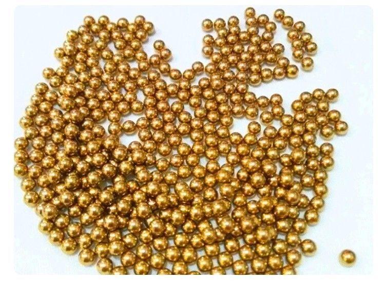 Solid Bearing Balls High Precision 4.45mm 100pcs Brass H62