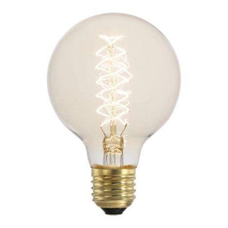 Ampoule Globe Incandescent 60 E27 Lumière Chaude Env 2700k
