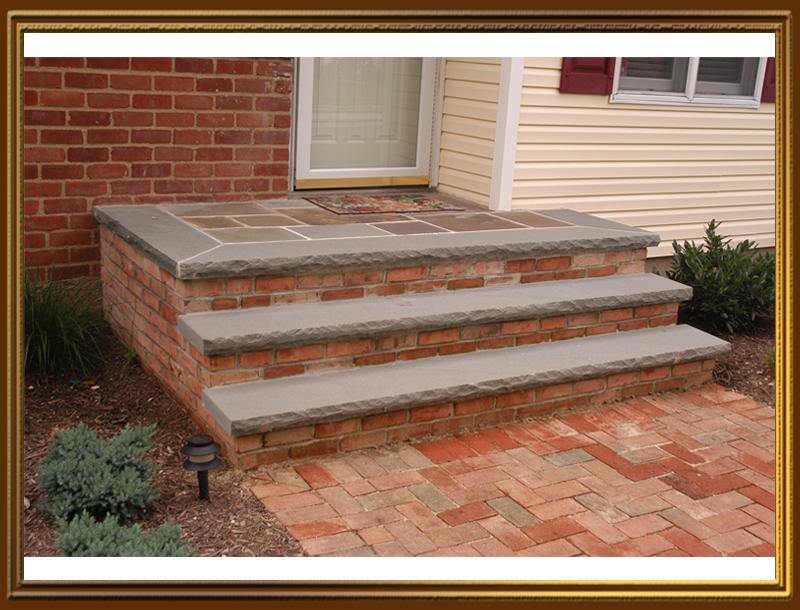 Bluestone Steps With Brick Long Island Stoops Steps Front Porches Stoop Decor Brick Steps Bluestone Steps