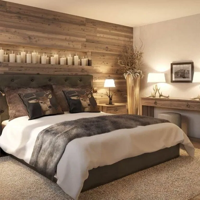 47 Beautiful Rustic Bedroom Ideas To Liven Up Your Boring Room 21 10 In 2020 Rustic Master Bedroom Rustic Bedroom Design Country Style Bedroom
