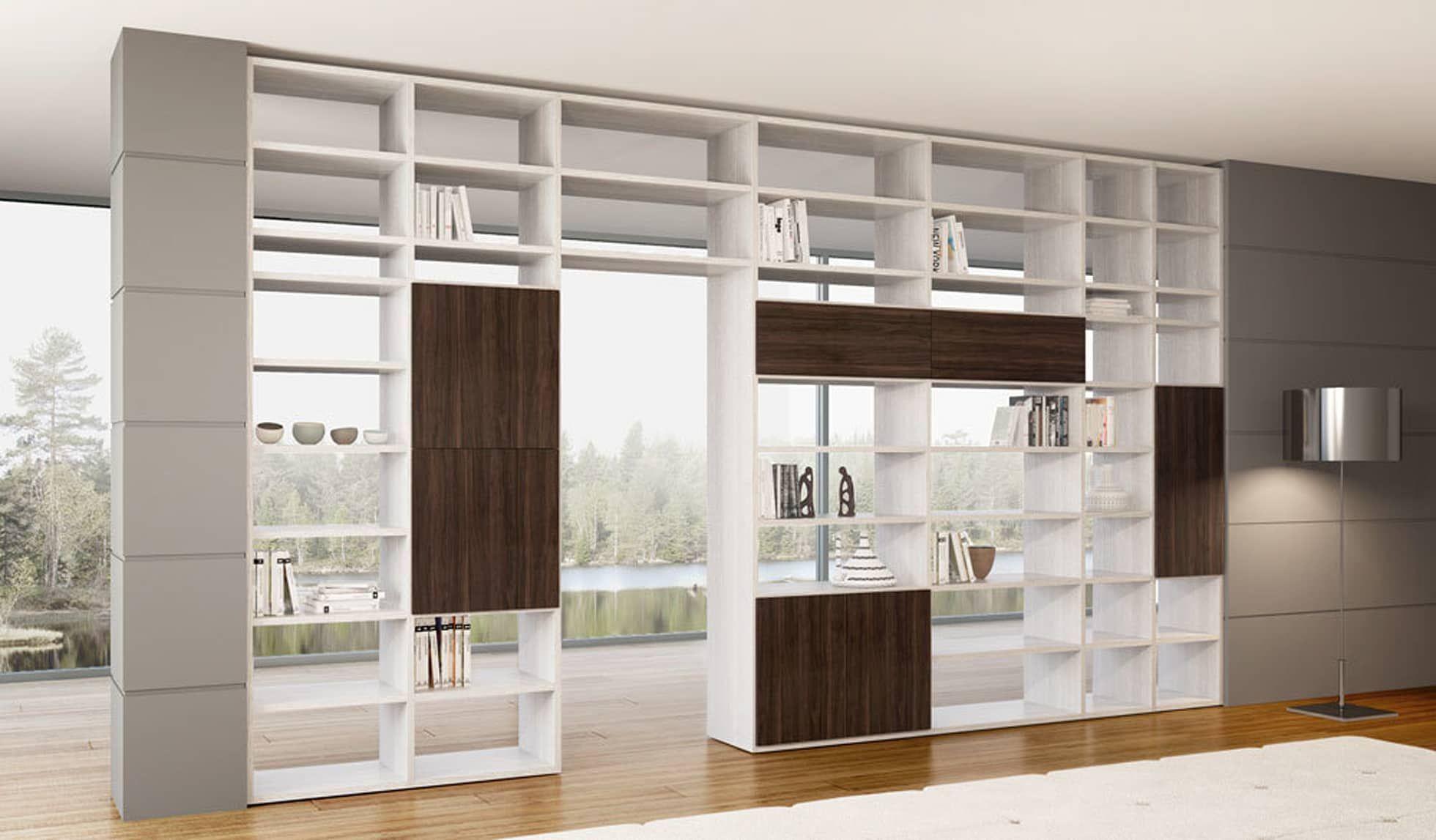 Librerie Componibili Bifacciali.In Stile Di Homify Moderno Librerie Divisorie Nel 2019