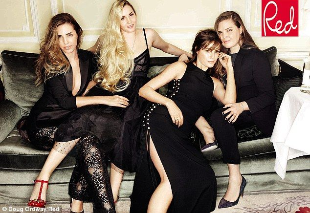 Picture perfect: Supermodel Yasmin Le Bon has posed with her three daughters Amber (left),...