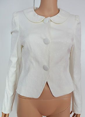 New Phase Eight size 10 Off White Jacquard Jacket Blazer in Clothes, Shoes & Accessories, Women's Clothing, Coats & Jackets | eBay