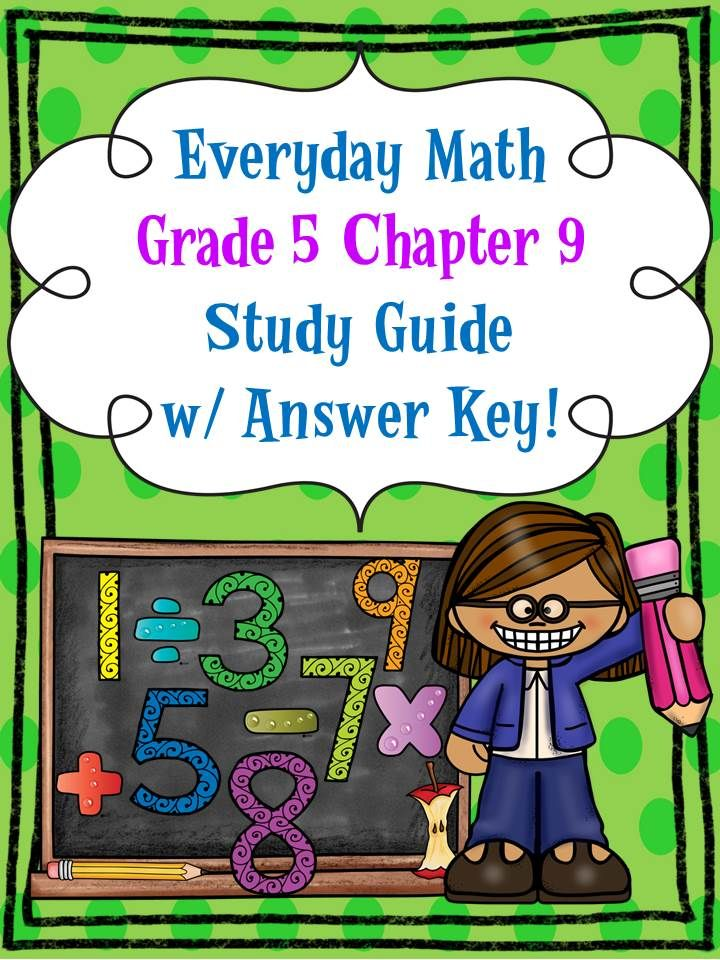 Everyday Math Grade 5 Ch 9 Study Guide W Answer Key Md