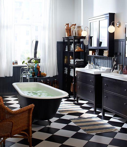 Riante badkamer IKEA HEMNES | Bathroom | Pinterest - HEMNES, Ikea en ...